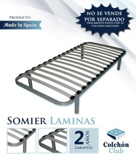 Somier de Laminas disponible en color Plata o Negro Ref S14000PACK