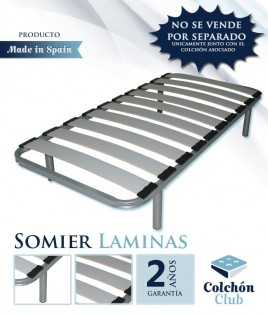 Somier de Lama ancha disponible en color Plata o Negro Ref S11000PACK