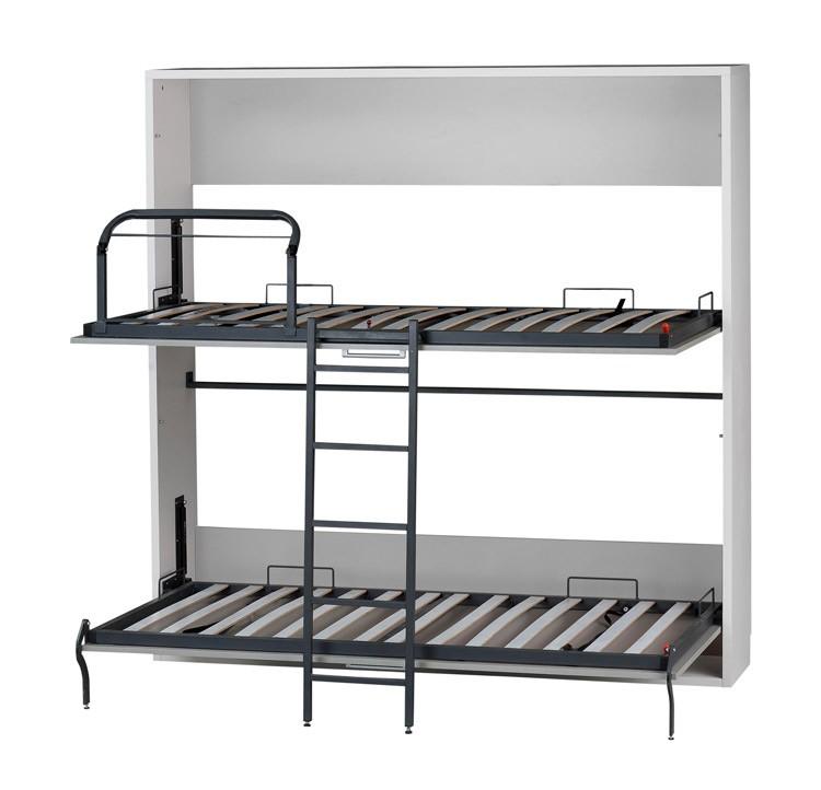 Litera abatible horizontal con 2 camas de 90 cm - Muebles con cama abatible horizontal ...