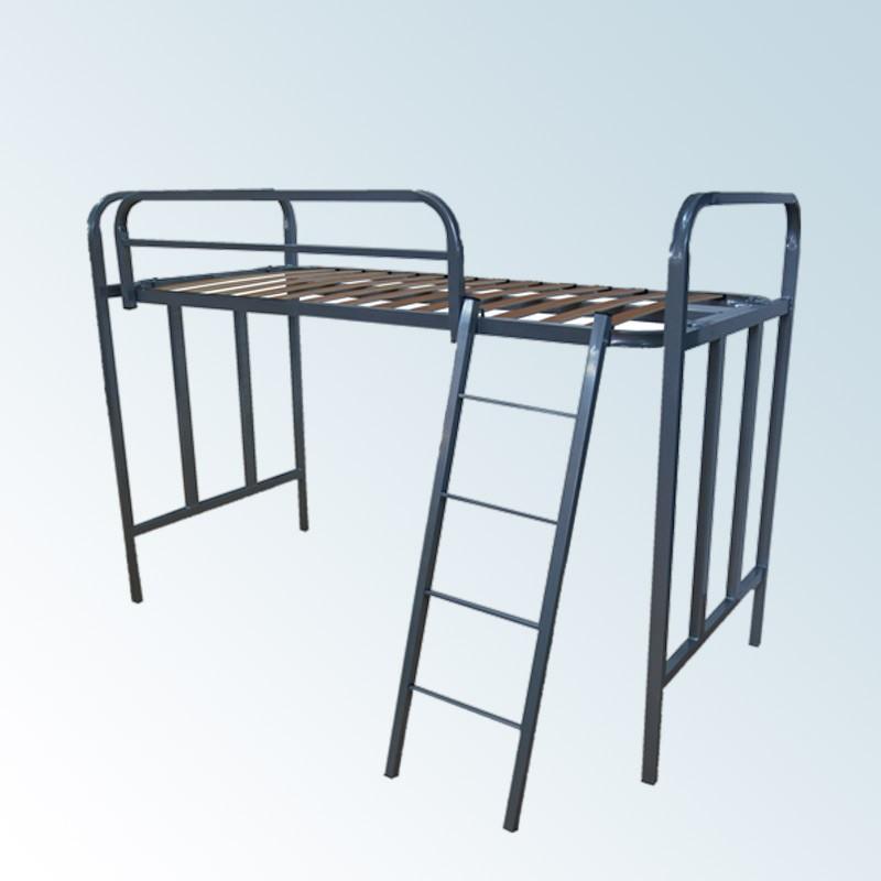 Litera de una cama con barandilla y escalera for Camas 110x200