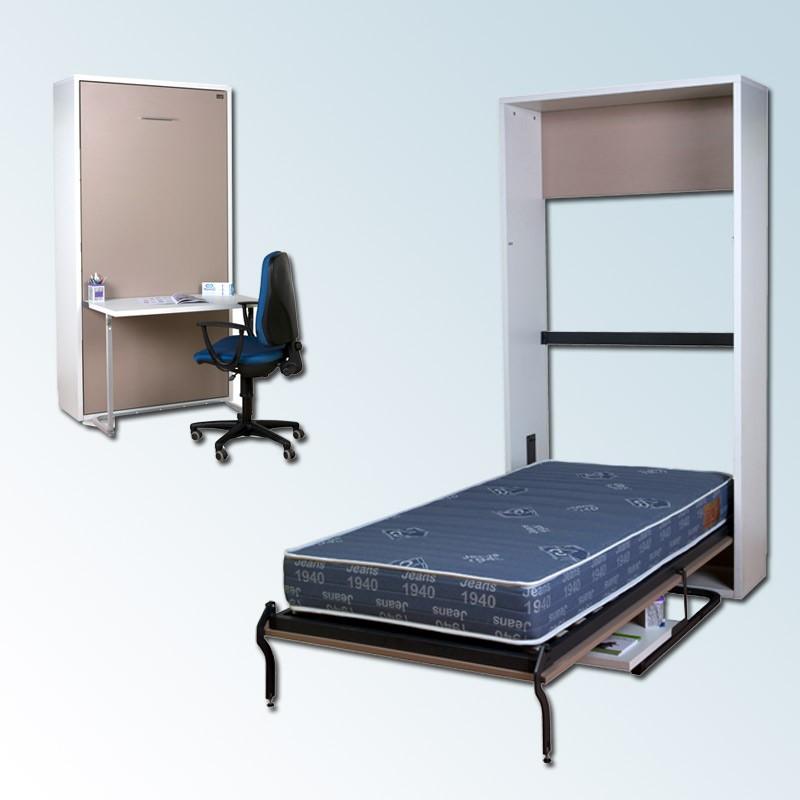 pack cama abatible vertical con escritorio y colch n