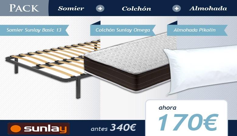 Pack Colchón, somier y almohada