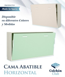Cama Abatible Horizontal disponible en diferentes colores y medidas Ref Y29000