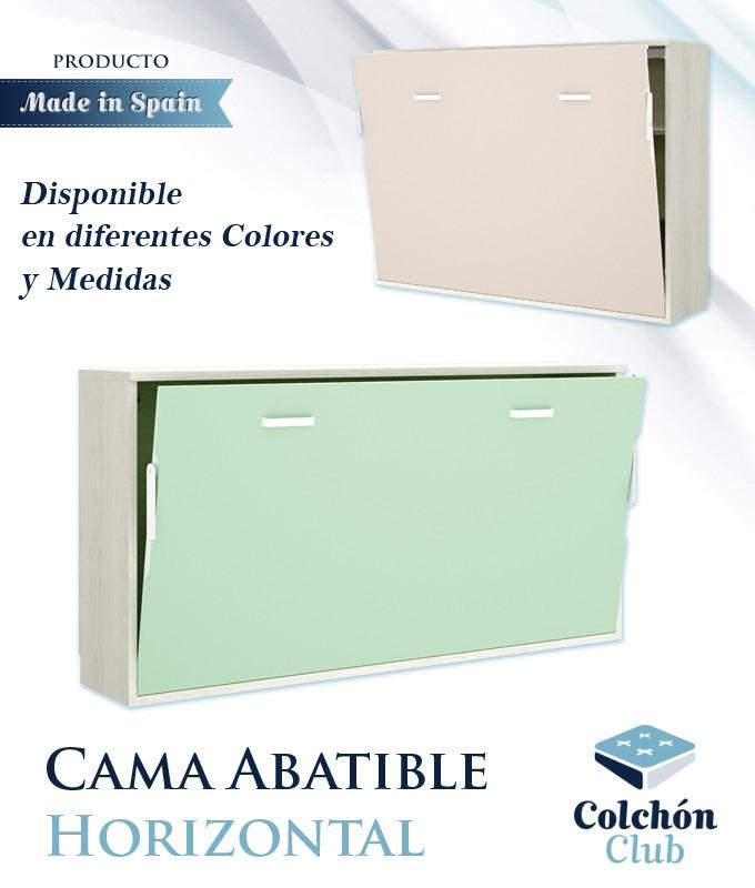 Cama Abatible Horizontal disponible en diferentes colores y medidas Ref Y29000