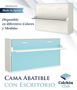 Cama Abatible Horizontal con escritorio disponible en diferentes colores y medidas Ref Y30000