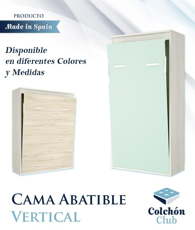 Cama Abatible Vertical disponible en diferentes colores y medidas ...
