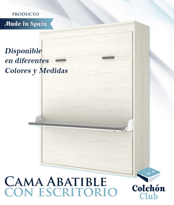Cama Abatible Vertical con escritorio disponible en diferentes colores y medidas Ref Y32000