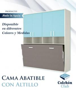 Cama Abatible Horizontal individual con armario superior Ref Y37000