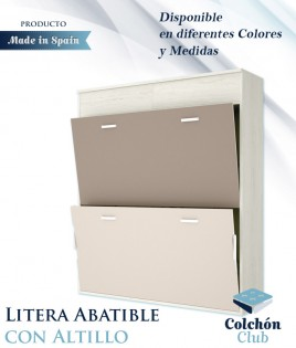 Litera Abatible Horizontal con altillo disponible en diferentes colores Ref Y40000