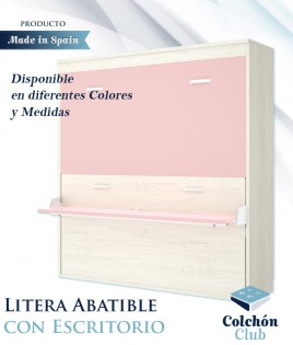 Litera Abatible Horizontal con Escritorio disponible en diferentes colores y medidas Ref Y34000