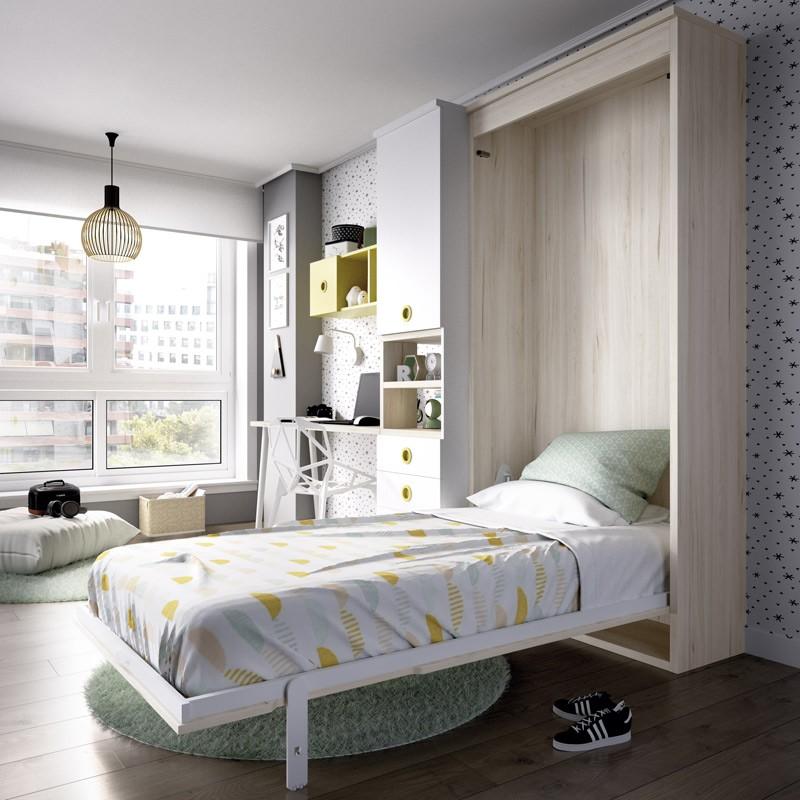 Dormitorio con cama abatible escritorio y armario ref yh407 - Cama abatible escritorio ...