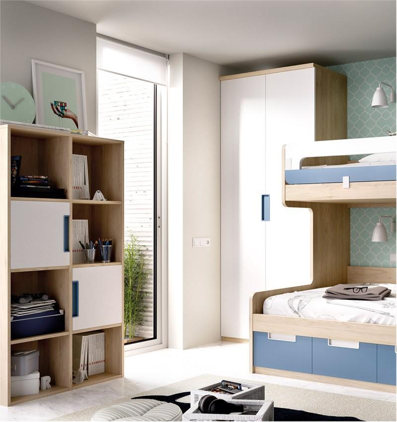 Dormitorio Juvenil con Litera con cama Matrimonial e individual ...