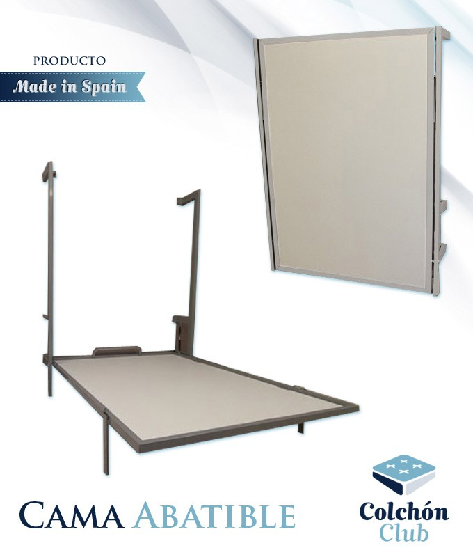 Cama Abatible vertical con estructura metálica disponible en diferentes colores Ref F12000