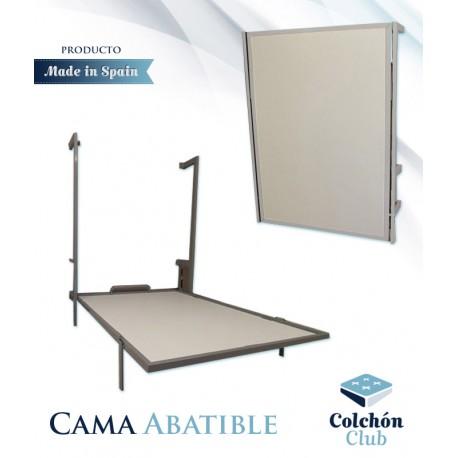 Cama Abatible Vertical Con Estructura Metálica Disponible En Diferentes Colores