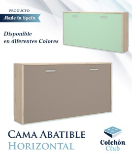 Cama Abatible Horizontal disponible en diferentes colores Ref Y27000