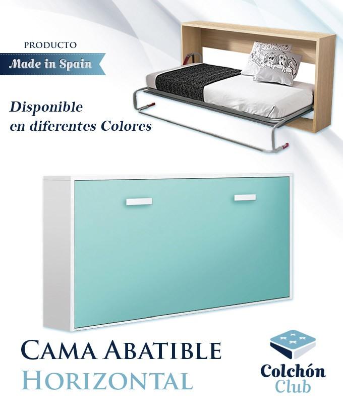 Cama Abatible Horizontal disponible en diferentes colores Ref E10000