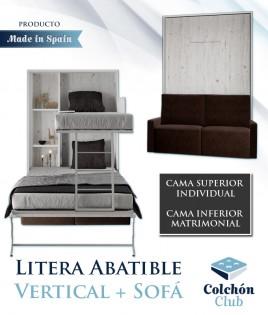 Litera Abatible Vertical Matrimonial con Sofá Ref N36000