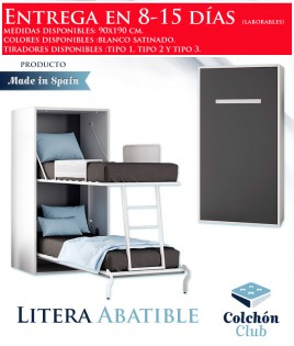 Litera Abatible Vertical individual disponible en gran variedad de colores Ref N10000