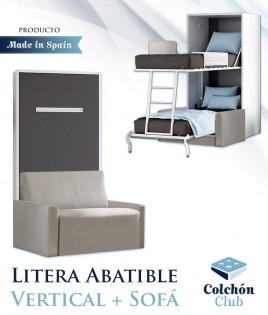 Litera Abatible Vertical de 90 con Sofá Ref N37000