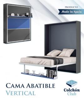 Cama Abatible Vertical con estante sincronizado y puerta en 3 colores Ref N47000