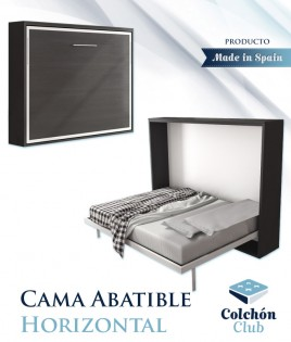 Cama Abatible Horizontal disponible en diferentes medidas y colores Ref N50000