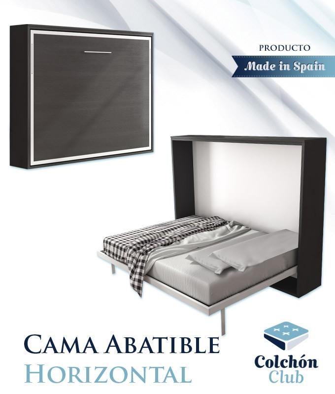 Cama Abatible Horizontal disponible en diferentes medidas y colores Ref N50000