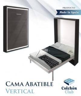 Cama Abatible Verticalmente disponible en diferentes medidas y colores Ref N51000