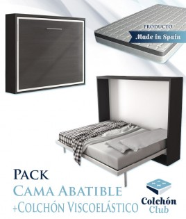 Pack Cama Abatible Horizontal y Colchón viscoelástico Ref N52000
