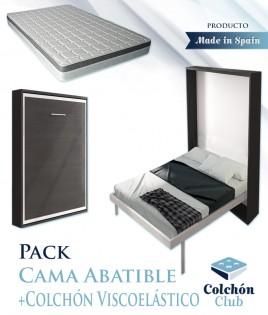 Pack Cama Abatible Vertical y Colchón viscoelástico Ref N53000