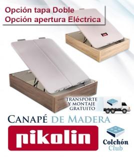Canapé de Madera Pikolin modelo Design disponible con tapa Doble y apertura Eléctrica Ref P51100
