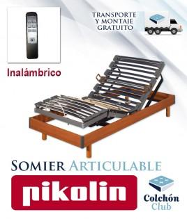 Somier Articulable Eléctrico Pikolin modelo Futurlam Eléctrico con bastidor en madera Ref P32100
