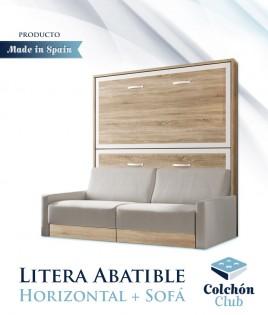 Litera Abatible Horizontal con Sofá disponible en gran variedad de colores Ref N54000