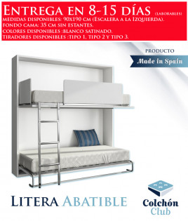 Litera Abatible Horizontal disponible en diferentes medidas y colores Ref N11000