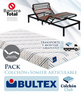 Pack Bultex, Colchón Bultex articulable modelo Optimus y Somier Articulable Ref P161000
