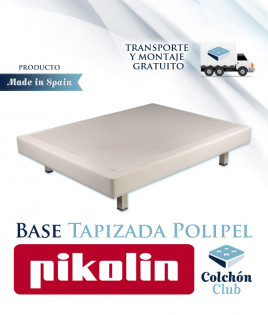 Base Tapizada Pikolin modelo Ergobox con estructura de muelles Ref P38000