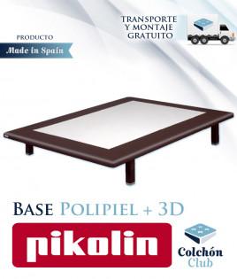 Base Tapizada Pikolin modelo Divanlin Polipiel con 3D transpirable Ref 279000