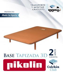 Base Tapizada de Pikolin modelo Divanlin 3D con patas de Madera Ref P68000PACK