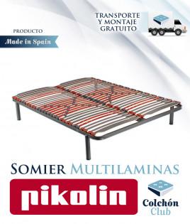 Somier multiláminas Pikolin modelo SM26R con Soportes de caucho antideslizantes Ref P29000