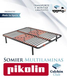 Somier multiláminas Pikolin modelo SG20R con regulación Lumbar Ref P27000