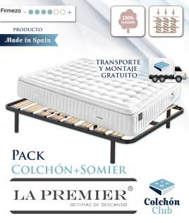 Pack La Premier Colchón de muelles ensacados con Topper y Somier Multiláminas Ref LP18000