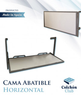Cama Abatible Horizontal con estructura metálica disponible en diferentes colores Ref F14000