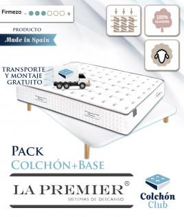 Pack La Premier de muelles ensacados cara de Verano algodón, Invierno en Lana y Base Tapizada 3D Ref LP27000
