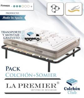 Pack La Premier Colchón Viscoelástico con Viscografeno y somier multiláminas Ref LP30000