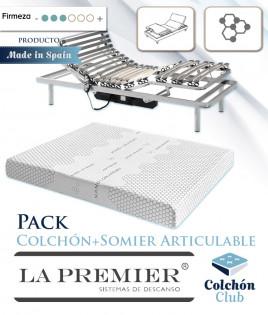 Pack Colchón Articulable Marca La Premier y Somier Articulable Ref LP34000