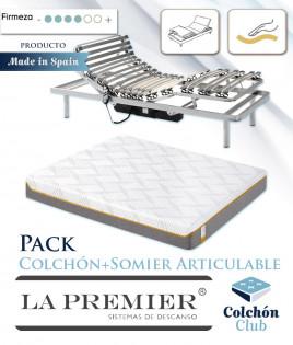 Pack Colchón Articulable Marca La Premier y Somier Articulable Ref LP36000