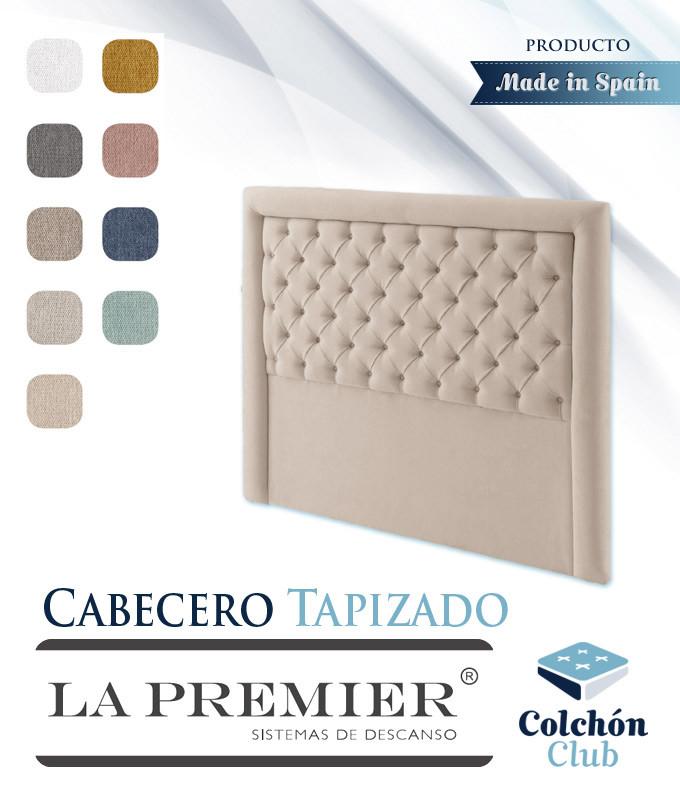 Cabecero tapizado La Premier con acolchado capitoné Ref LP01