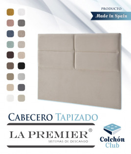 Cabecero tapizado La Premier con rectangulos Ref LP16