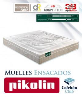 Colchón Pikolin modelo Activepik de muelles ensacados y firmeza personalizable Ref P10000