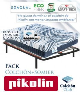 Pack Pikolin, colchón modelo Ecopik y somier multiláminas Ref P266000