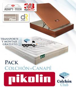 Pack Pikolin, colchón modelo Activepik y Canapé de madera Pikolin Ref P271000